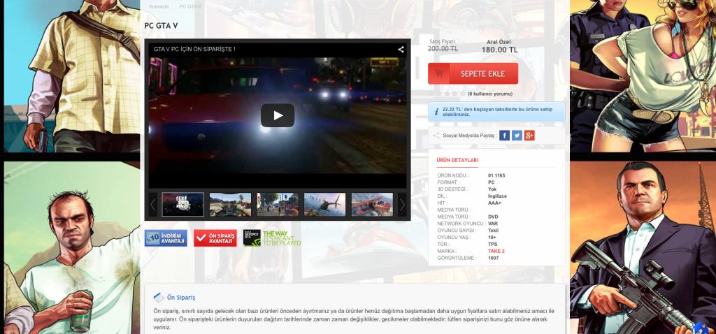 Aral Game GTA 5 Ön Sipariş