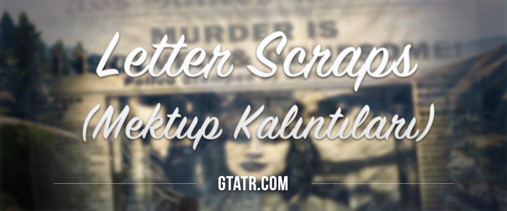 GTA 5 Letter-Scraps