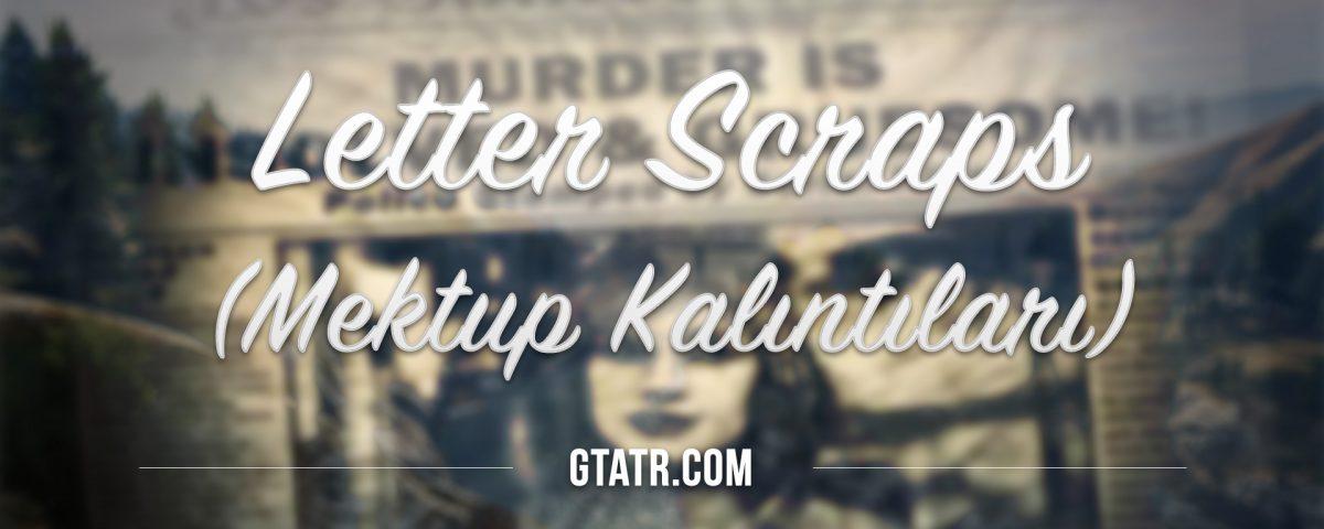 Grand Theft Auto V: Letter Scraps (Mektup Kalıntıları)