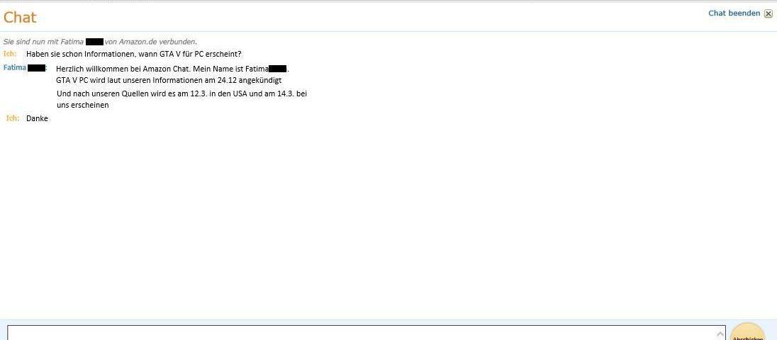 GTA5 PC Amazon Chat