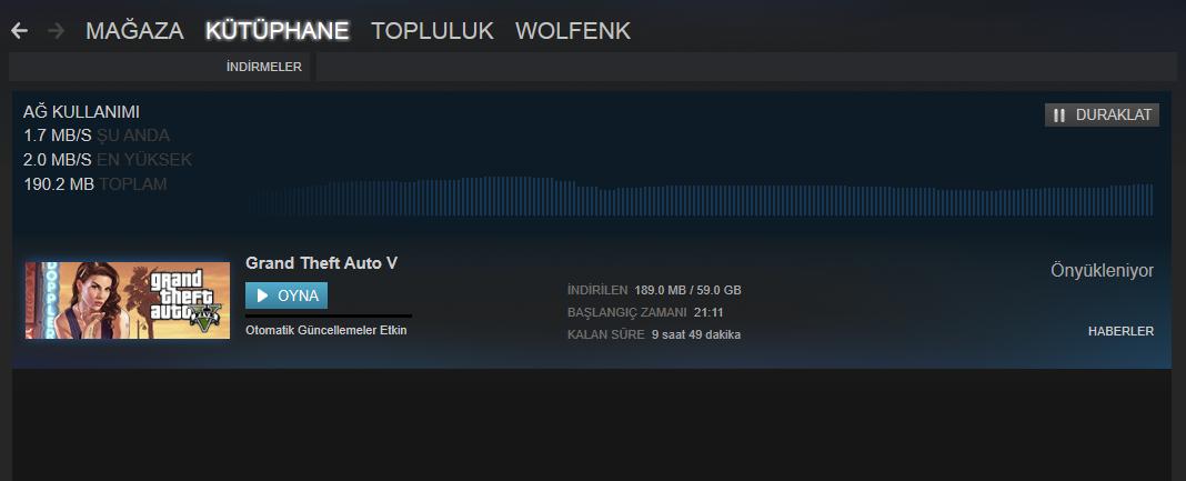 GTA5 Steam Onyukleme