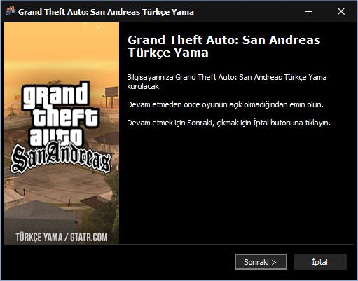 GTATR San Andreas Türkçe Yama