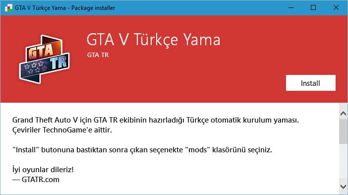 GTA TR Türkçe Yama