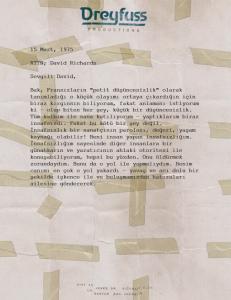 Mektup Sayfası 1