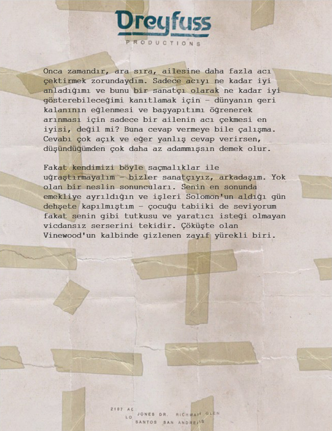 Letter Scraps Mektup TR 2