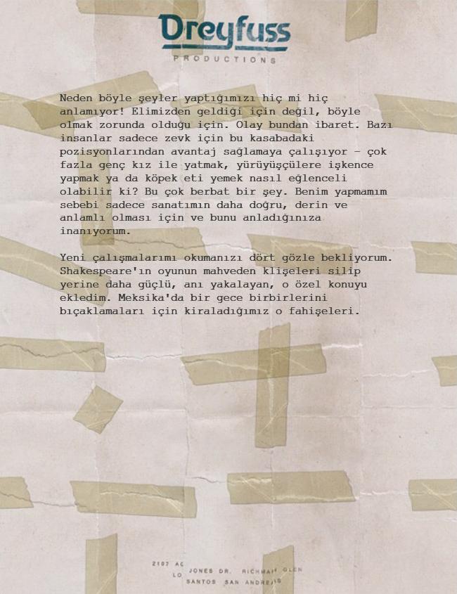 Letter Scraps Mektup TR 3