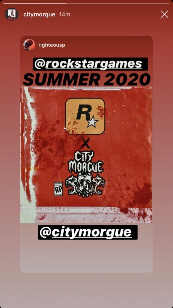 Rockstar Games City Morgue Instagram