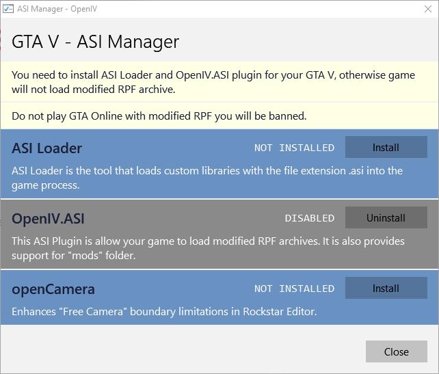 ASI Manager